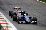 Marcus Ericsson (Sauber F1 Team, C35) and Esteban Gutiérrez (Haas F1 Team, VF-16)