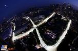 An Aerial Shot of Marina Bay Street Circuit