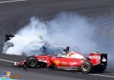 Nico Rosberg (Mercedes AMG F1 Team, F1 W07 Hybrid) and Sebastian Vettel (Scuderia Ferrari, SF16-H)