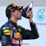 Daniel Ricciardo (Red Bull Racing) celebrating his Race Win with a Shoey