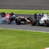 Felipe Massa (Williams F1 Team, FW38) and Carlos Sainz Jr. (Scuderia Toro Rosso, STR11)