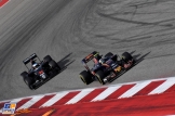 Fernando Alonso (McLaren Honda, MP4-31) and Carlos Sainz Jr. (Scuderia Toro Rosso, STR11)