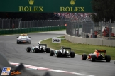 The Top Three behind The Safety Car