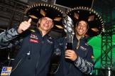 Daniell Ricciardo and Max Verstappen celebrating the Third Place for Daniell Ricciardo
