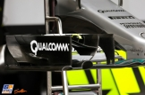 Detail of the Mercedes AMG F1 Team F1 W07 Hybrid