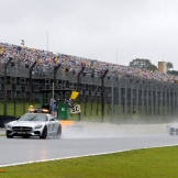 The Start of The Race Behind The Safety Car