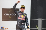 Max Verstappen (Red Bull Racing) Celebrating his Third Place