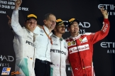 The Podium : Second Place Nico Rosberg (Mercedes AMG F1 Team), Race Winner Lewis Hamilton (Mercedes AMG F1 Team) and Third Place Sebastian Vettel (Scuderia Ferrari)