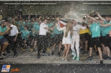 Nico Rosberg (Mercedes AMG F1 Team) and his wife Celebrating his Title World Champion of Formula 1 2016