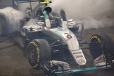 Nico Rosberg (Mercedes AMG F1 Team, F1 W07 Hybrid) Celebrating his win of the Championship