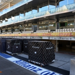 The Pit Boxes for Felipe Massa and Valtteri Bottas, Williams F1 Team