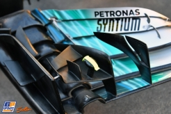 A Detail of the Front Wing for the Mercedes AMG F1 Team F1 W08 Hybrid