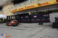 The Pit Boxes for Daniel Ricciardo and Max Verstappen (Red Bull Racing)