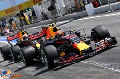 Daniel Ricciardo and Max Verstappen (Red Bull Racing, RB13)