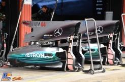 The New Bodywork for the Mercedes AMG F1 Team F1 W08 Hybrid