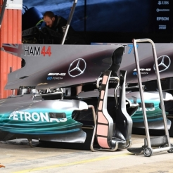 The New Bodywork for the Mercedes AMG F1 Team F1 W08 Hybrid