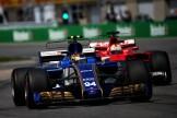 Pascal Wehrlein (Sauber F1 Team, C36) and Sebastian Vettel (Scuderia Ferrari, SF70-H)