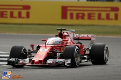 Sebastian Vettel, Scuderia Ferrari, SF70-H and the Shield