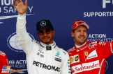 Lewis Hamilton (Mercedes AMG F1 Team) and Sebastian Vettel (Scuderia Ferrari)