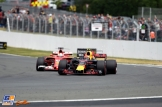 Max Verstappen (Red Bull Racing, RB13) and Sebastian Vettel (Scuderia Ferrari, SF70-H)