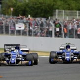 Marcus Ericsson and Pascal Wehrlein (Sauber F1 Team, C36)