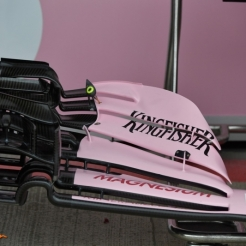 Detail of the Force India F1 Team VJM10