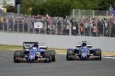 Marcus Ericsson and Pascal Wehrlein (Sauber F1 Team, C36)