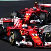 Sebastian Vettel and Kimi Räikkönen (Scuderia Ferrari, SF70-H)