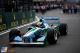 Mick Schumacher in Michael Schumacher's Benetton