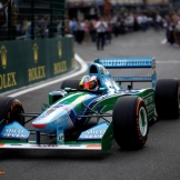 Mick Schumacher in Michael Schumacher's Benetton