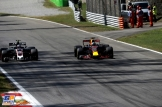 Daniel Ricciardo (Red Bull Racing, RB13) and Kevin Magnussen (Haas F1 Team, VF17)