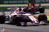 Sergio Pérez (Force India F1 Team, VJM10) and Daniel Ricciardo (Red Bull Racing, RB13)