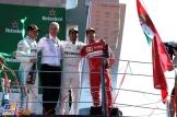 The Podium : Third Place Valtteri Bottas (Mercedes AMG F1 Team), Race Winner Lewis Hamilton (Mercedes AMG F1 Team) and Third Place Sebastian Vettel (Scuderia Ferrari)