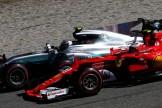 Kimi Räikkönen (Scuderia Ferrari, SF70-H) and Valtteri Bottas (Mercedes AMG F1 Team, F1 W08 Hybrid)
