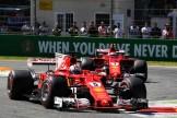 Sebastian Vettel (Scuderia Ferrari, SF70-H) and Kimi Räikkönen (Scuderia Ferrari, SF70-H)