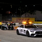 The cars behind the Safety Car