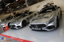 The Mercedes AMG F1 Safety and Medical Cars