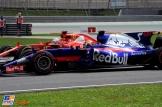 Pierre Gasly (Scuderia Toro Rosso, STR12) and Sebastian Vettel (Scuderia Ferrari, SF70-H)
