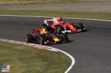 Max Verstappen (Red Bull Racing, RB13) and Kimi Räikkönen (Scuderia Ferrari, SF70-H)