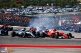 Sebastian Vettel (Scuderia Ferrari, SF70-H) and Lewis Hamilton (Mercedes AMG F1 Team, F1 W08 Hybrid)