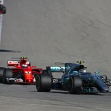 Valtteri Bottas (Mercedes AMG F1 Team, F1 W08 Hybrid) and Kimi Räikkönen (Scuderia Ferrari, SF70-H)
