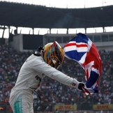 Lewis Hamilton (Mercedes AMG F1 Team) Celebrating his Fourth World Championship Title
