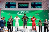 The Podium : Second Place Valtteri Bottas (Mercedes AMG F1 Team), Race Winner Max Verstappen (Red Bull Racing) and Third Place Kimi Räikkönen (Scuderia Ferrari)