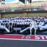 Paul di Resta, Lance Stroll and Felipe Massa, Williams F1 Team, FW40