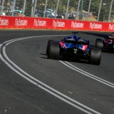 A Scuderia Toro Rosso STR13 and a Red Bull Racing RB14