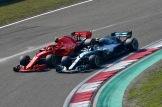 Kimi Räikkönen (Scuderia Ferrari, SF71H) and Valtteri Bottas (Mercedes AMG F1 Team, F1 W09 EQ Power)