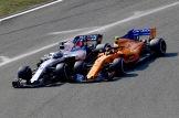Lance Stroll (Williams F1 Team, FW41) and Stoffel Vandoorne (McLaren Renault, MCL33)