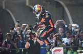 Daniel Ricciardo (Red Bull Racing) Celebrating his Victory