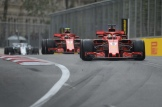 Sebastian Vettel and Kimi Räikkönen, Scuderia Ferrari, SF71H