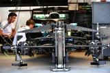 Detail of the Mercedes AMG F1 Team F1 W09 EQ Power